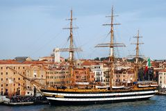 Historic Ship In Venice Royalty Free Stock Image