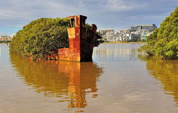 Historic Shipwreck - Homebush Bay, Sydney stock images