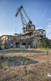 The historic shipyard crane Stock Images