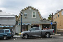 Historic shops in Weirs Beach, NH, USA
