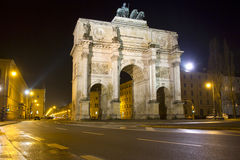 The historic Siegestor in Munich, Germany Stock Photos