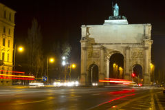 The historic Siegestor in Munich, Germany Stock Image