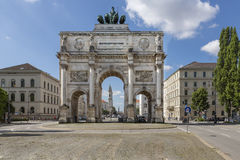 The historic Siegestor in Munich, Germany Stock Images