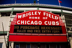 Historic sign entrance to Wrigley Park Royalty Free Stock Photography