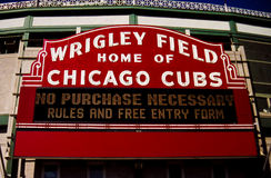 Historic sign entrance to Wrigley Park Royalty Free Stock Photo