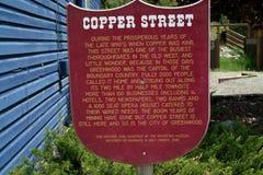 Historic Sign, Greenwood BC, Canada. Stock Image