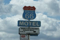 Historic Sign Route 66 royalty free stock photography