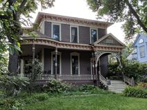 Historic Sioux Falls Home - Italianate Style. Historic home architecture in the Sioux Falls Cathedral District: 1880 built Italianate Style home of Porter Peck stock image