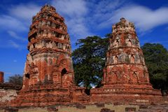 Historic site of ayutthaya Stock Photo