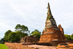 Historic site  in Ayutthaya of thailand Royalty Free Stock Images
