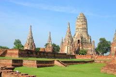 Historic site in Ayutthaya,Thailand Royalty Free Stock Photo