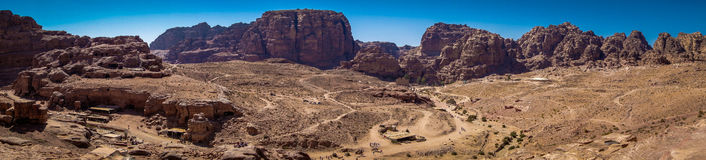 Historic site at Petra in Jordon Royalty Free Stock Images