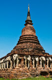 Historic site in Sukhothai period, Thailand. (Vertical image) Royalty Free Stock Images