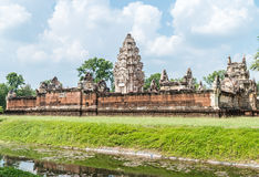 Historic site in Thailand, name: Prasat Sadok Kok Thom Stock Photo