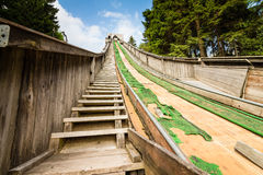 Historic Ski Jump built. Historic wooden ski jump built in Oberhof, Thuringia Royalty Free Stock Images