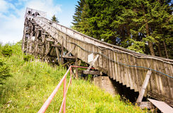 Historic Ski Jump built. Historic wooden ski jump built in Oberhof, Thuringia Royalty Free Stock Image