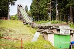 Historic Ski Jump built. Historic wooden ski jump built in Oberhof, Thuringia Royalty Free Stock Photos