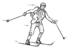 Historic skiing Stock Photo