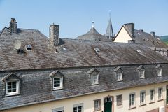 Historic slate roofs in Bernkastel, Germany Royalty Free Stock Image