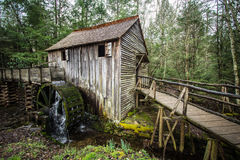Historic Smoky Mountain Grist Mill Stock Image
