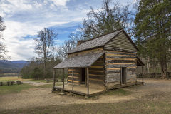 Historic Smoky Mountains Cabin - Cades Cove, Tennessee Stock Photos