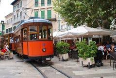 Historic Soller tram on Majorca Stock Photos