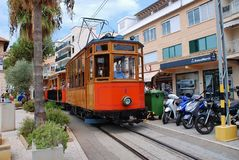 Historic Soller tram, Majorca Royalty Free Stock Image
