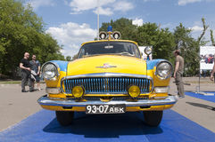 Historic Soviet-era Russian car in police livery Stock Images