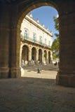 Historic Spanish archways in old Havana, Cuba Stock Photography