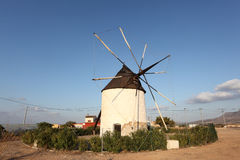 Historic spanish windmill Royalty Free Stock Photos