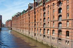 Historic Speicherstadt Buildings Hamburg Stock Photography