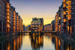 The historic Speicherstadt in Hamburg, Germany Royalty Free Stock Photography