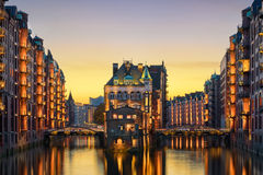 The historic Speicherstadt in Hamburg, Germany Stock Photography