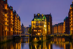 The historic Speicherstadt, Hamburg Royalty Free Stock Photo