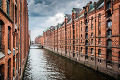 Historic Speicherstadt warehouse district in Hamburg, Germany Royalty Free Stock Photos