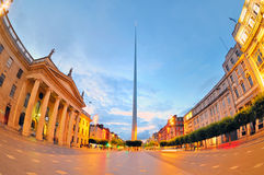 The historic Spire of Dublin. In night time Royalty Free Stock Photos