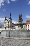 Historic square in Jihlava stock photography
