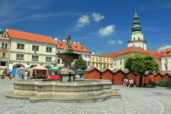 Historic square in Kromeriz Royalty Free Stock Image
