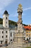 Historic square in the mining town of Kremnica Stock Image