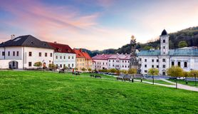 Historic square in the mining town of Kremnica, Slovakia Royalty Free Stock Photos