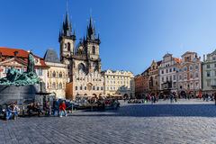 Historic square in the Old Town quarter of Prague Royalty Free Stock Photo