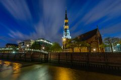 Historic St. Catherine`s Church or Katharinenkirche in Hamburg royalty free stock images