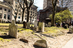 Historic St. Pauls Chapel graveyard Royalty Free Stock Photos