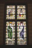 Historic stained glass windows in the Rijksmuseum, Amsterdam, Netherlands Stock Image