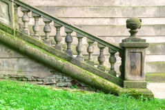 Historic staircase with baroque balustrade Stock Photos