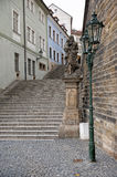 Historic stairs in Prague, Czech Republic Stock Image