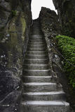 Historic stairway in rock germany Stock Photos