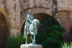 Historic Statue in Barcelona Royalty Free Stock Photos