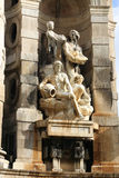 Historic Statue in Barcelona Stock Photography