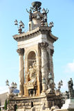Historic Statue in Barcelona Royalty Free Stock Photo
